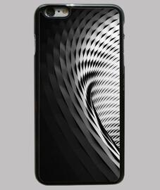 Funda iPhone 6 Plus, negra espiral 3D