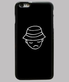 Funda iPhone 6 Plus, negra. Marca Pessimistic