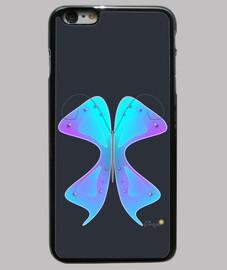 Funda iPhone 6 Plus, negra Mariposa Na
