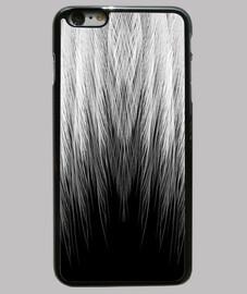 Funda iPhone 6 Plus, negra plumas b&w