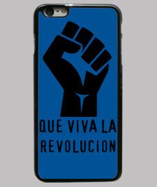 Funda iPhone 6 Plus, negra REVOLUCIÓN