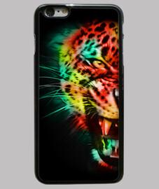 Funda iPhone 6 Plus, negra tigre