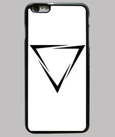 Funda iPhone 6 Plus, negra. Triangulo roto
