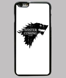 Funda iPhone 6 Plus, negra Winter is coming