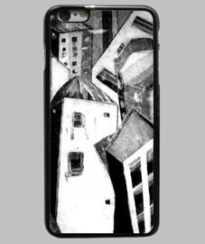 Funda iPhone 6 Plus, negra/Ciudad