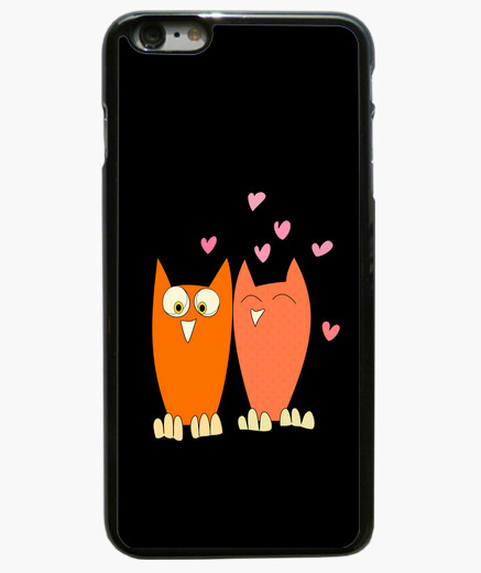 Funda iPhone 6 Plus Romántica pareja de divertidos búhos