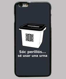 Funda iPhone 6 Plus Urna Referèndum 1O... sóc perillós!