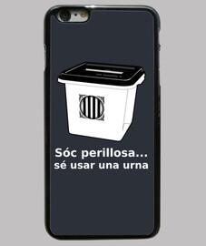 Funda iPhone 6 PLUS Urna Referèndum 1O... sóc perillosa