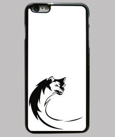 Funda iPhone 6 Plus, Wolf Art