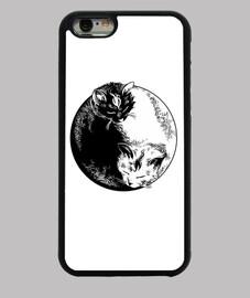Funda iPhone 6 yin yang gatos