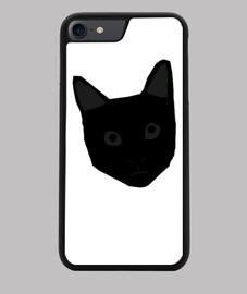 Funda iPhone 7/8 con la cara de un gato