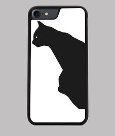 Funda iPhone 7/8 con la silueta de un gato