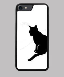Funda iPhone 7/8 con la silueta de un gato 2.0