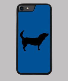 Funda iPhone 7/8 con la silueta de un perro