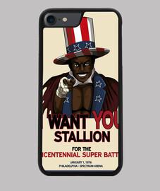 Funda iPhone 7/8, negra Apolo Poster