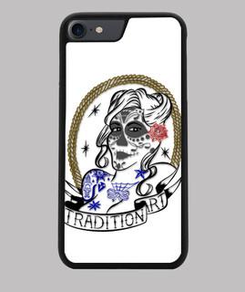 Funda iPhone 7/8, negra, Catrina