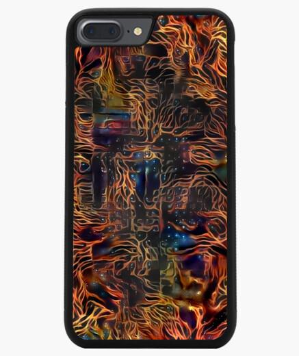 Funda iPhone 7 Plus / 8 Plus 7/8 PLUS, negra ByAI FLAME