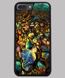 Funda iPhone 7/8 PLUS, negra ByAI Forest