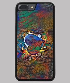 Funda iPhone 7/8 PLUS, negra ByAI GREEN HEART