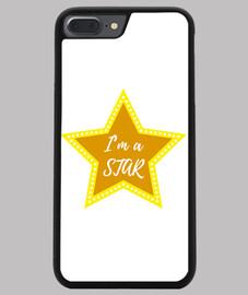 Funda iPhone 7/8 PLUS, negra i'm a star