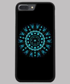 Funda iPhone 7/8 PLUS, negra mandala