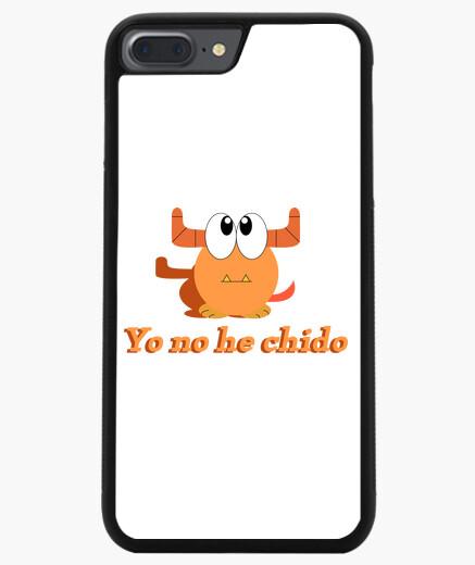 Funda iPhone 7 Plus / 8 Plus 7/8 PLUS, negra monstruo naranja