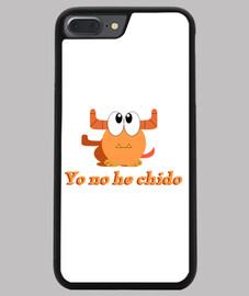 Funda iPhone 7/8 PLUS, negra monstruo naranja