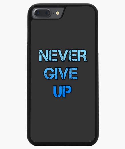 Funda iPhone 7 Plus / 8 Plus 7/8 PLUS, negra never give up