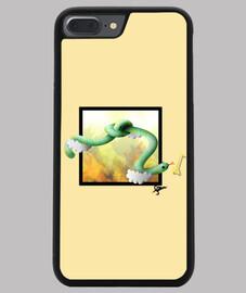 Funda iPhone 7/8 PLUS, negra Snake