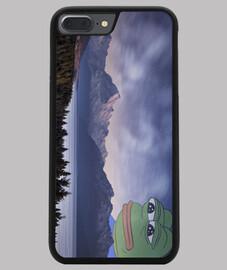 Funda iPhone 7/8 PLUS Pepe the frog fog, negra
