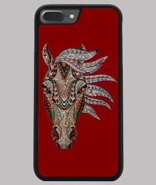 Funda iPhone 7/8 PLUS, roja caballo