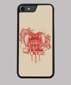 Funda iPhone 7 o iPhone 8 Corazón Yo me enamore de ti Burdeos