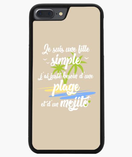 Funda iPhone 7 Plus / 8 Plus playa y mojito