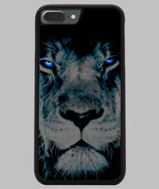Funda iPhone 7 y 8 PLUS, León azul