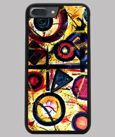 Funda iPhone 7 y 8 PLUS, negra Arte abstracto