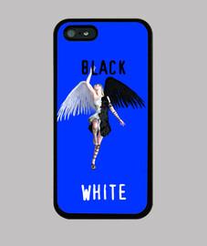 Funda Iphone Angel Black Vs White