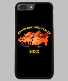 Funda iPhone Bomberos Forestales España iPhone 7-8 PLUS, negra