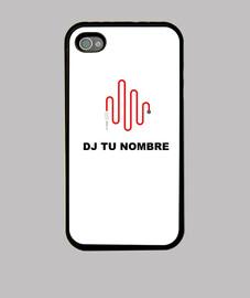 Funda iPhone CARCASA NEGRA fondo parte editable BLANCA (PUEDES CAMBIAR EL COLOR AL PERSONALIZARLA)