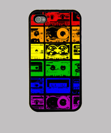 Funda Iphone, CASSETTES ARCOIRIS