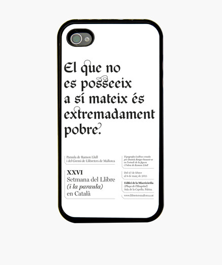 Funda iPhone El que no es posseeix (iphone 4 o 4s)