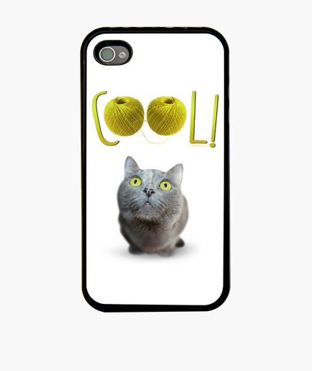 Funda iPhone Gato de ojos verdes encantado...