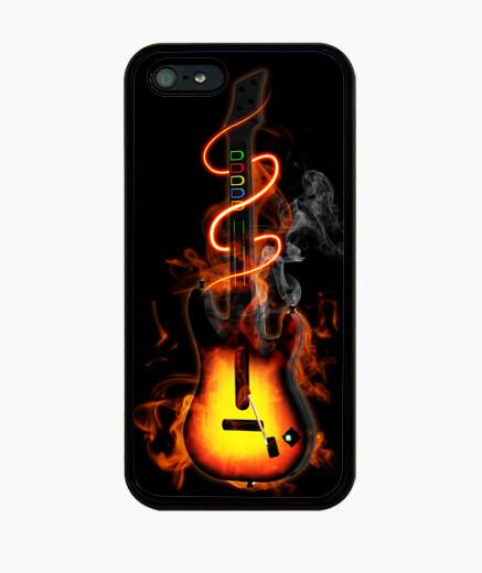 Funda iPhone Guitarra en llamas