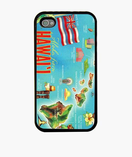 Funda iPhone Hawaii map