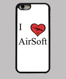 Funda Iphone I love Airsoft JV