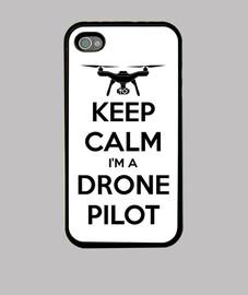 Funda iPhone keep calm I'm a drone pilot
