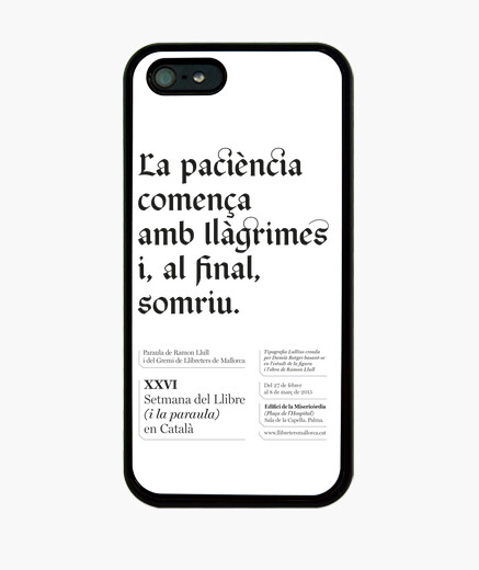 Funda iPhone La paciència (iPhone 5)