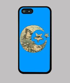 Funda Iphone Luna y Estrellas