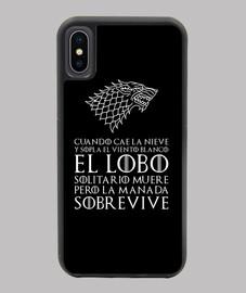 Funda iPhone negra, Lobo solitario - Juego de Tronos