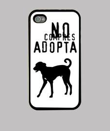 Funda iPhone No compres adopta