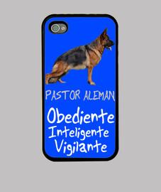 Funda iPhone Pastor aleman azul